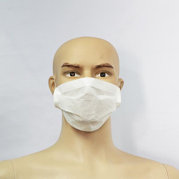 masque de protection jetable blanc